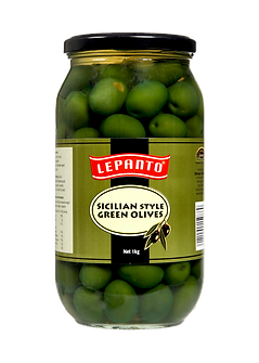 Lepanto Sicilian Green Olives 1kg