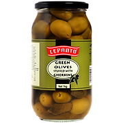 Lepanto Green Olives with Gherkin 1kg