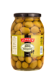 Lepanto Green Olives with Red Peppers 2kg