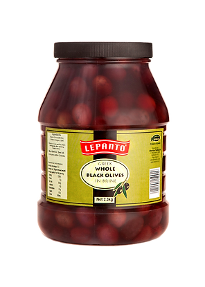 Lepanto Whole Black Olives 2.3kg