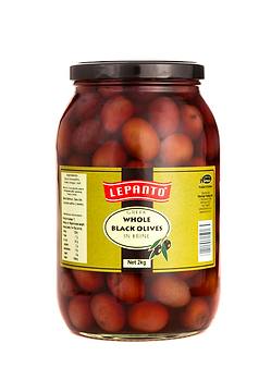 Lepanto Whole Black Olives 2kg