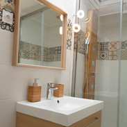 Cottage Coeur des Landes salle de bain