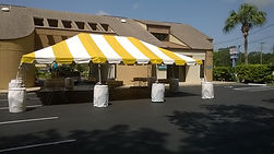 20X30 Yellow and White Tent