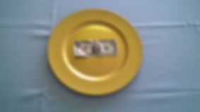 Gold Plate Chargers