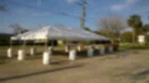 20X40 White Tent
