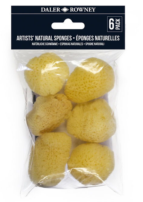 Daler-Rowney Pack of 6 Artists Natural Sponges