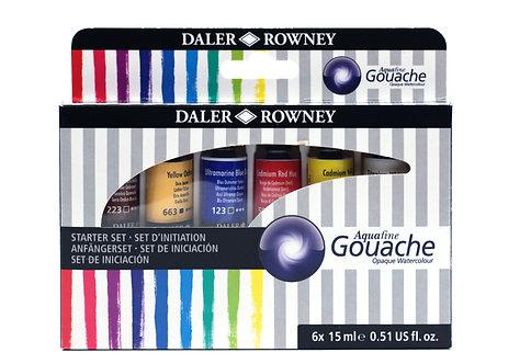 Aquafine Gouache 6 x 15 ml. set
