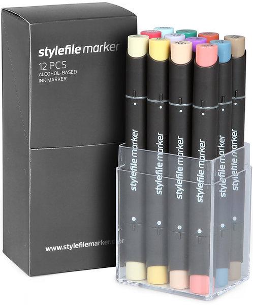 Stylefile Classic 12 stk. - Sett C