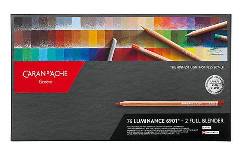 Luminance 6901, box 76 colour pencils + 2 blenders
