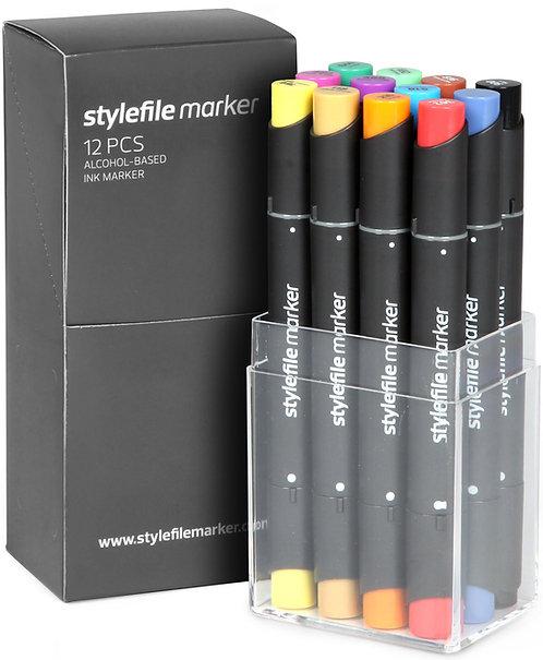 Stylefile Classic 12 stk. - Startsett A