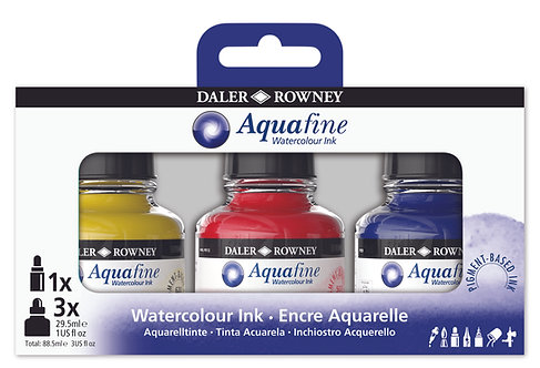 AquaFine Ink Set - 6 x 29,5 ml.