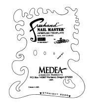 Nail Master 601 Curves Freehand Template