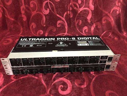 BEHRINGER ULTRAGAIN PRO 8 DIGITAL ADA8000 CWSDS