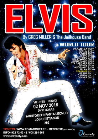 "ELVIS ""WORLD TOUR"" by Greg Miller LLENA EL AUDITORIO INFANTA LEONOR"