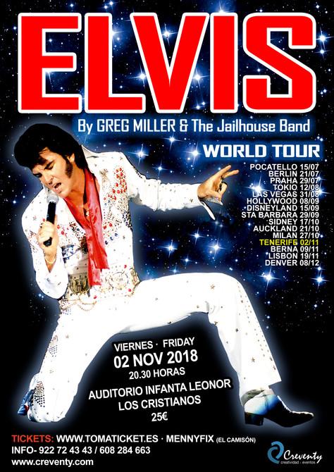 """ELVIS """"WORLD TOUR"""" by Greg Miller LLENA EL AUDITORIO INFANTA LEONOR"""