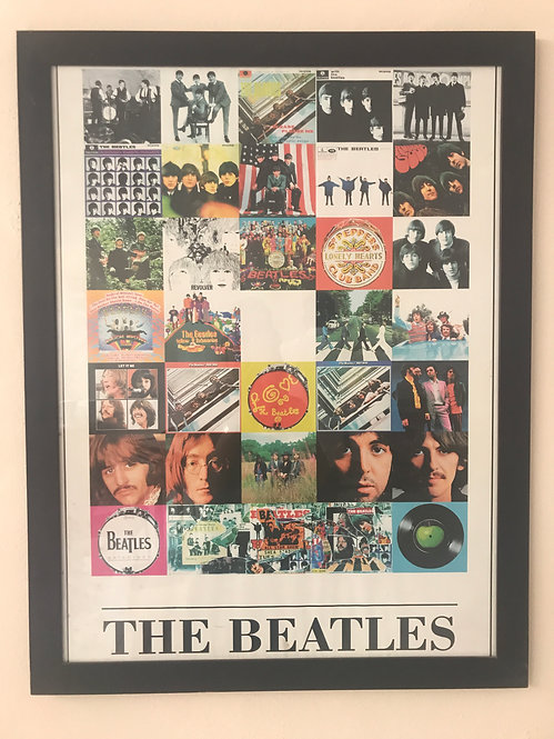 CUADRO POSTER THE BEATLES DISCOS