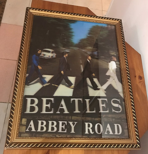 CUADRO POSTER BEATLES ABBEY ROAD