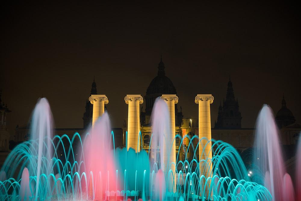 Fontane magiche a Barcellona