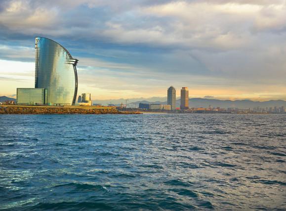 W Barcelona - View From Mediterranean Se