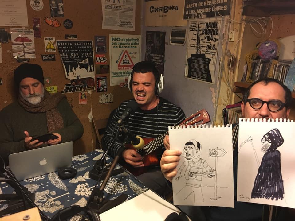 Contrabanda Barcellona radio studio radiofonico