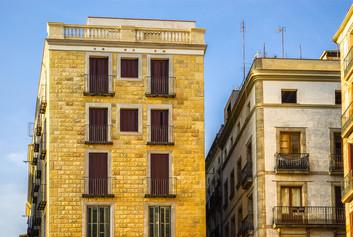 Barcellona e case