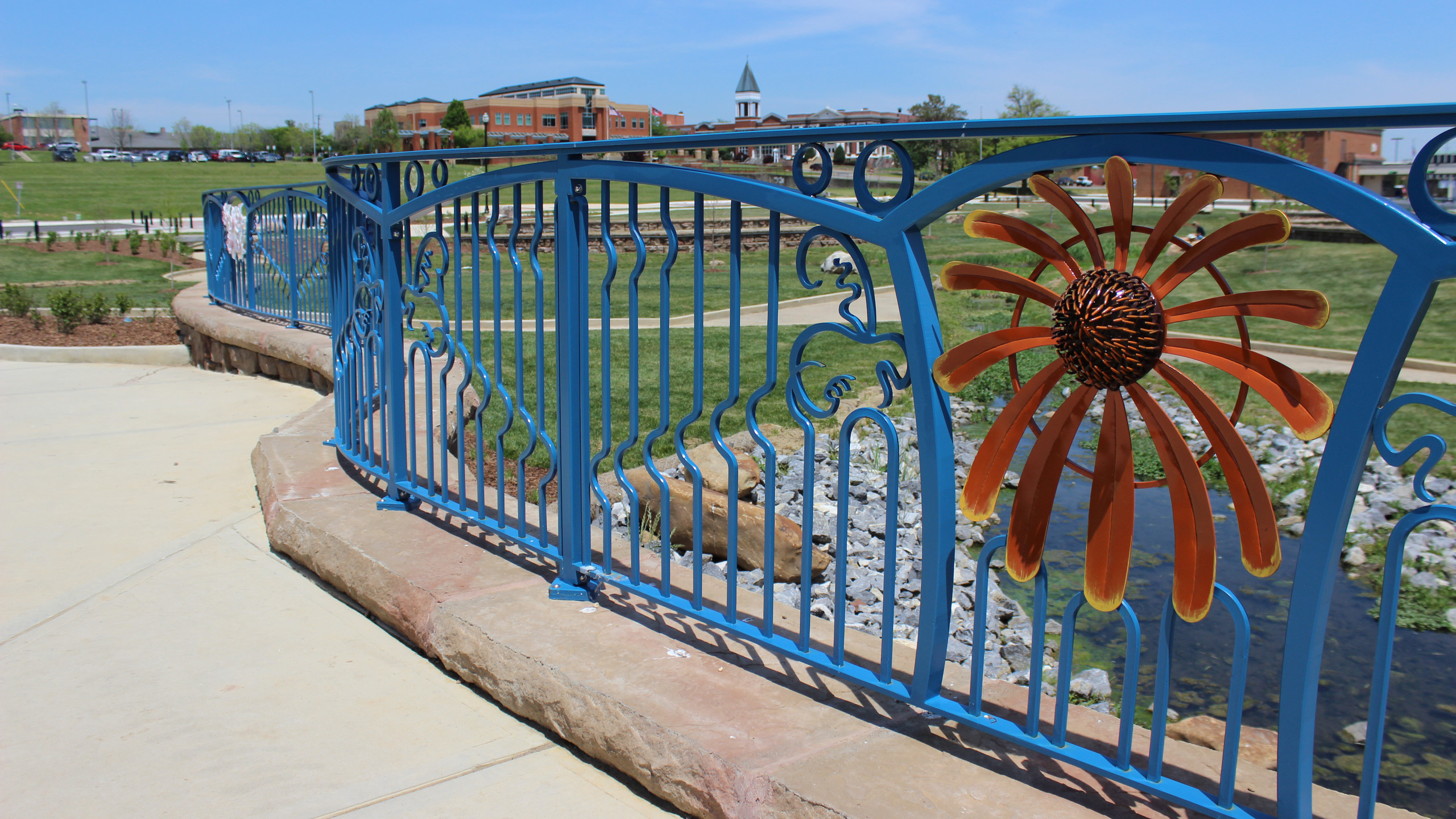 Detail of the Johnson City railing