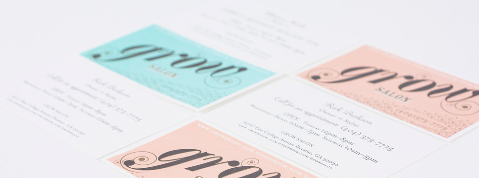 Male stylists got blue cards. The women got pink, in this retro brand.