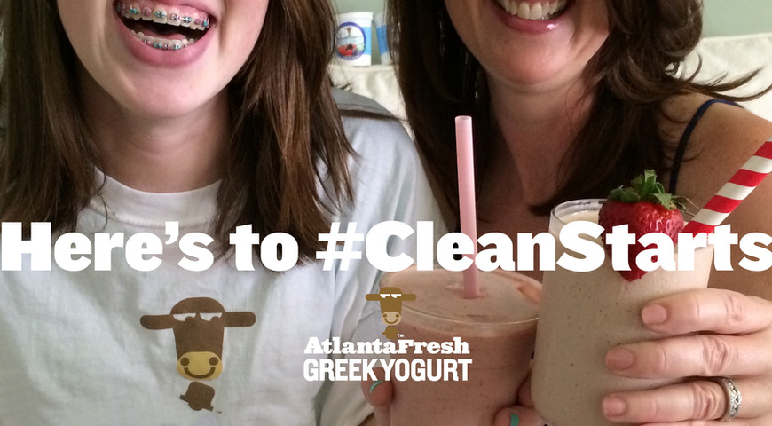 A New Year facebook ad campaign for the biggest month in yogurt sales.
