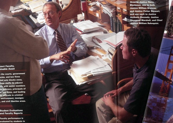 Spread from Viewbook for Hastings School of Law in San Francisco. Designed for Stein Communications/RR Donnelly