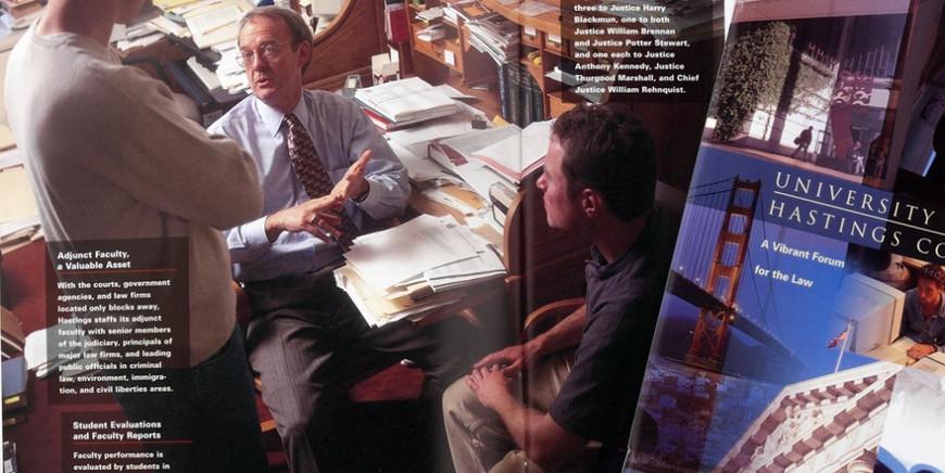 Hastings School of Law viewbook spread.