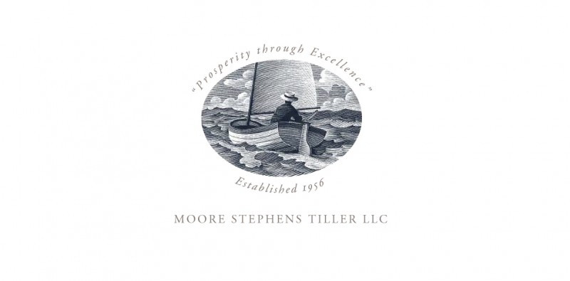 Moore Stephens Tiller logo. Illustration by Scott McKowan