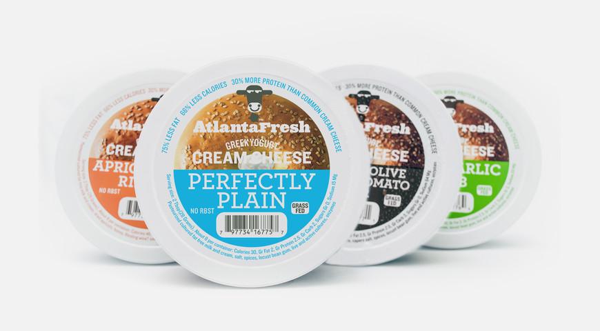 AtlantaFresh Cream Cheese package design circa 2009