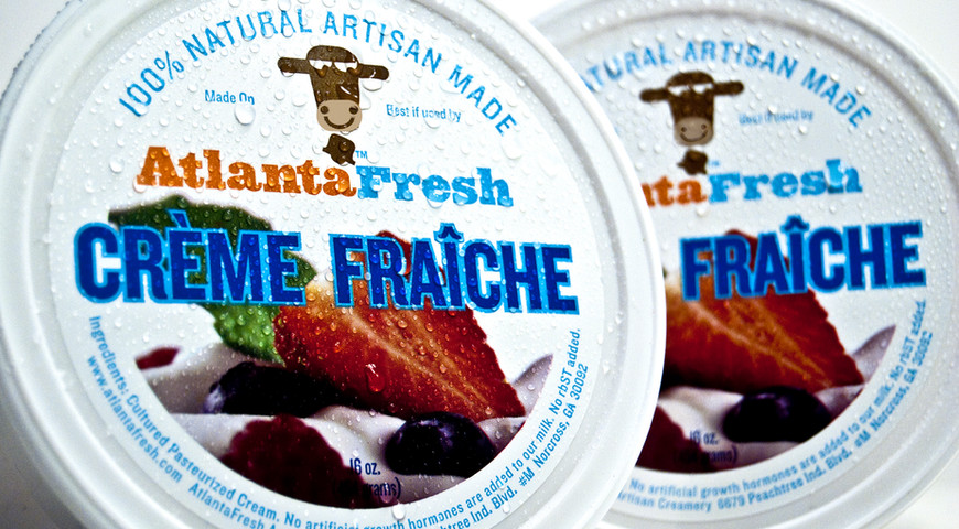 AtlantaFresh Creme Fraiche package Design, circa 2008.