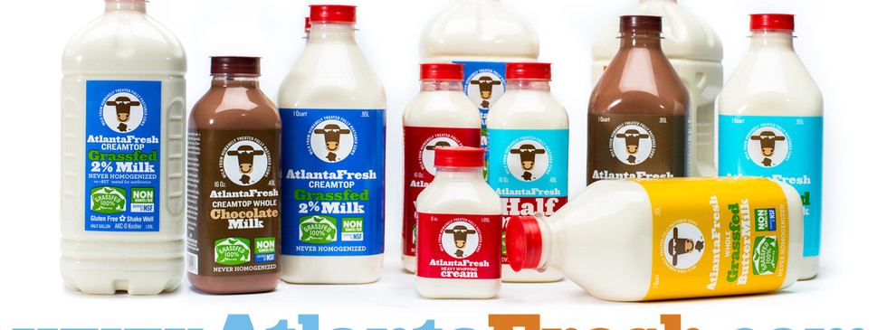 As a group, AtlantaFresh milk products increased their visual impact. Especially when 15 feet tall on a truck wrap!