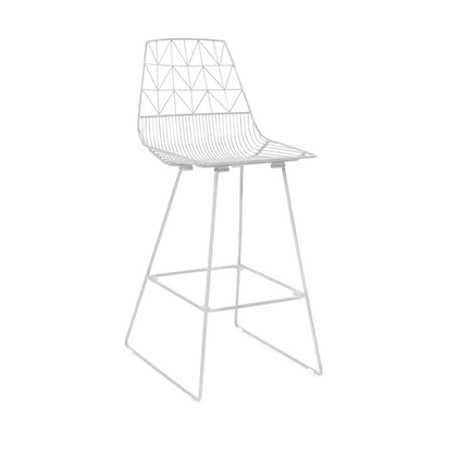 White Arrow Stool