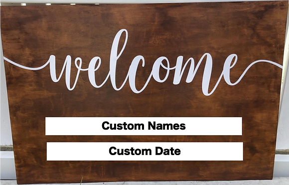 Custom Timber Welcome Sign