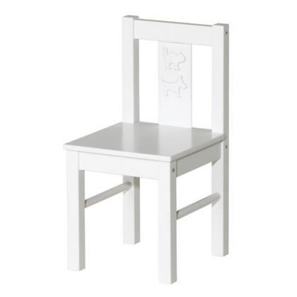 White Kids Chair