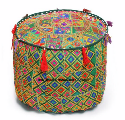 Green Indian Ottoman