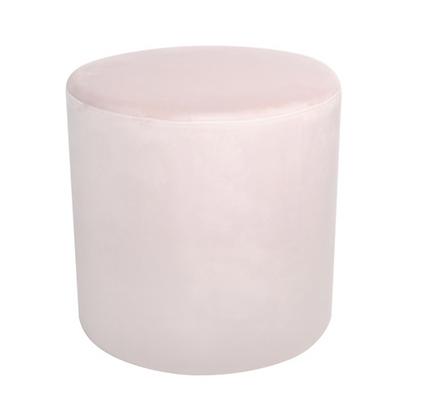Pink Velvet Ottoman