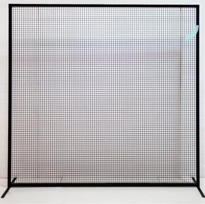 Black Mesh Wall - 2.2m
