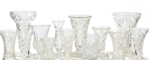 Assorted Small Crystal Vases