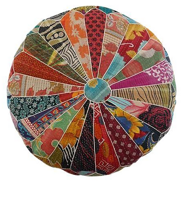 Colourful Patchwork Pouf