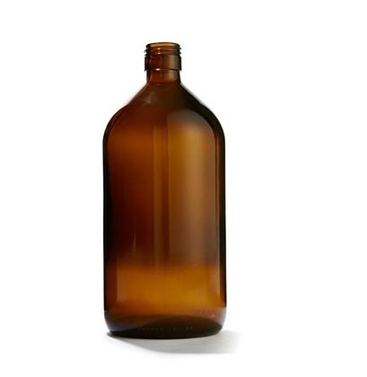Large Amber Bottle