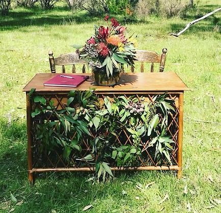Walnut Cane Table