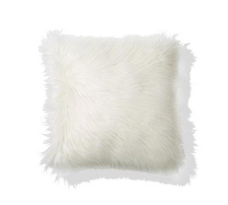 White Fluffy Cushion