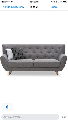Three Seater Grey Modern Lounge