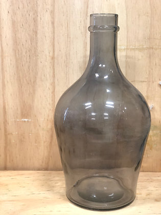 Large Black Glass Vase