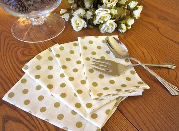 Gold Dot Linen Napkin