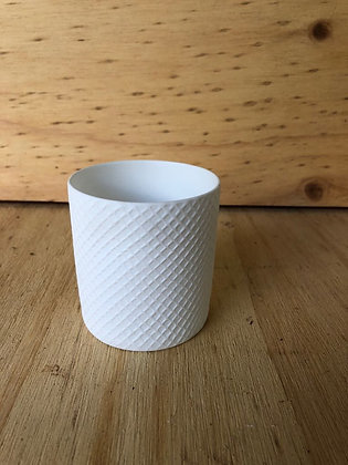 White Glass Tea Light Holder