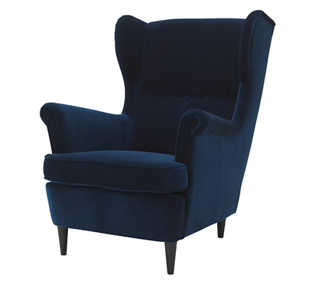 Royal Blue Wingback Chair